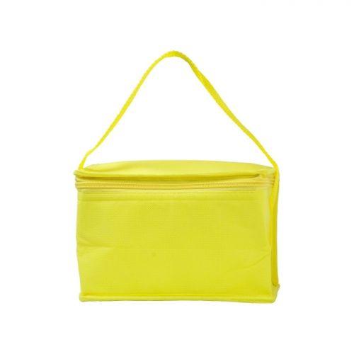 Gele koeltas bedrukken
